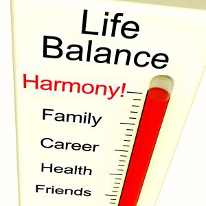 Illustration of Life Balance and Harmony Indicator