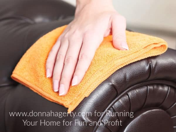Deep cleaning leather furniture